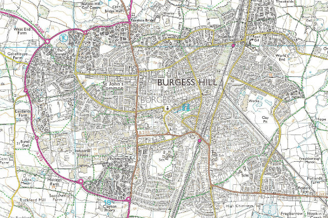 Burgess Hill Map Burgess Hill Green Circle Network | FoBHGCN site Burgess Hill Map